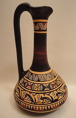 Ancient Greek Pottery Art Rare 900 BC Geometric Painted Vase Lagynos