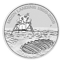 Lot of 20 x 1 oz 2019 Perth Mint 50th Anniversary of the Moon Landing Silver Coi