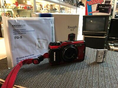Olympus Tough Tg-5 Digital Camera In Red /12 Mp / For Parts Or Not Working !