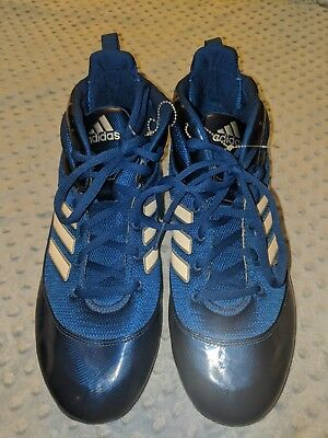 low priced 777cb 0d6bb new Adidas G59002 Blue White Baseball Cleats Shoes Men s Size 15