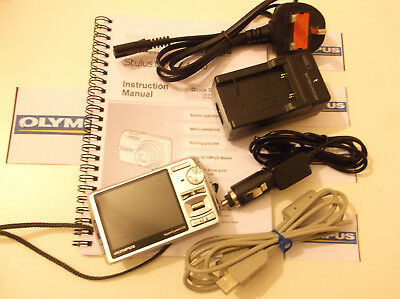 Olympus µ 820 8.0MP Silver Digital Camera Complete with XD Card