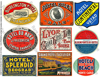 Vintage Travel Stickers For Luggage
