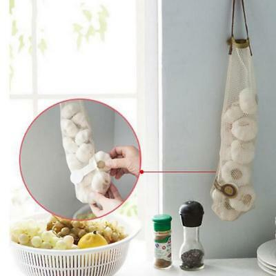 Wall Hanging Mesh Bag Storage Organizer Garlic Onion Potato Holder Kitchen D