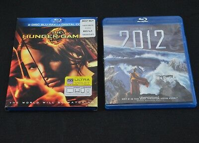 The Hunger Games 2012 Blu-Ray Film Movie Lot Set