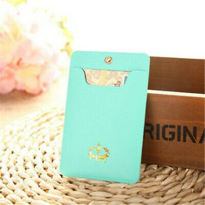 Women Portable Multi-color Bus Pass Card Holder Business ID Card Cover Case D