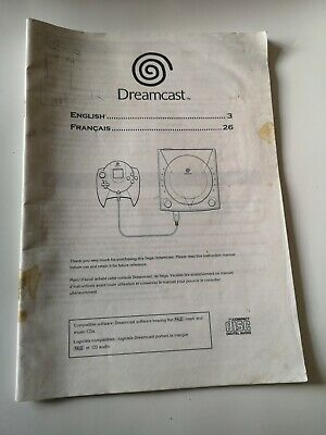 Sega dreamcast Console Instruction Manual Booklet ONLY