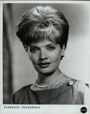 FLORENCE HENDERSON Hand Signed Autographed Photo w/COA - THE BRADY BUNCH