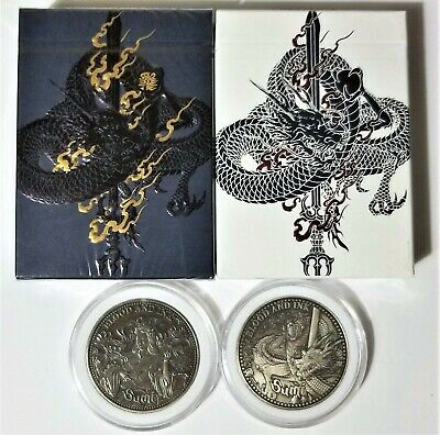 Sumi Silver Coin/Limited Edition Playing Cards Deck Set by Card Experiment EPCC