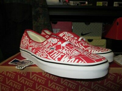 039150cbc5 Sale Vans Authentic Otw Off The Wall Repeat Red True White Vn0A38Emukl Sz 7 -13