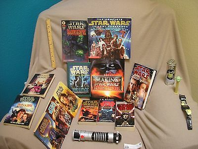 Star Wars Book Lot Darth Bane Trilogy Attack of the Clones Purple Lightsaber