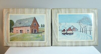 Dwight Eisenhower Prints White Church In The Country & The Deserted Barn 1968