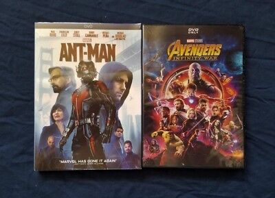 Avengers: Infinity War + Ant-man DVD Bundle Marvel Movies New Free Shipping
