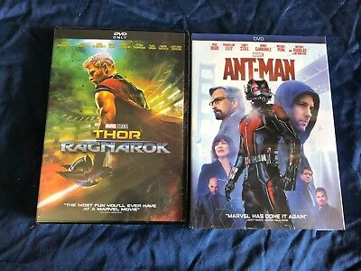 Thor: Ragnarok + Ant-man DVD Bundle Marvel Movies Sealed New Free Shipping