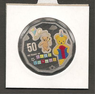 2016 50 Cents Play School Coloured Coin Uncirculated in 2x2 Coin Holder