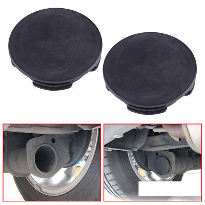 2PC EXHAUST TAIL Pipe Cap Water Baffle Cover For Smart Fortwo Forfour W451  08-14