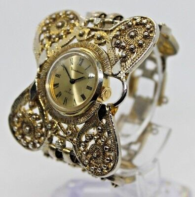 Vintage Retro Vendone Bracelet Style Watch Gold/Silver Tone, 7 Jewels, Runs!