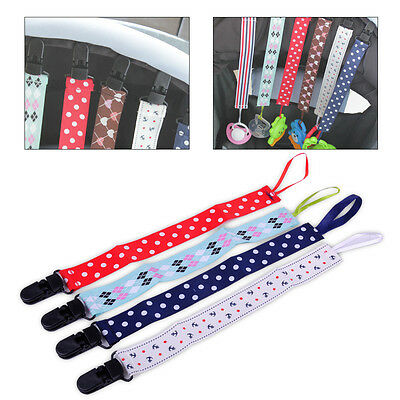 4x Baby Pacifier Holder Newborn Boys Girl Dummy Soother Leash Strap Clip Chain