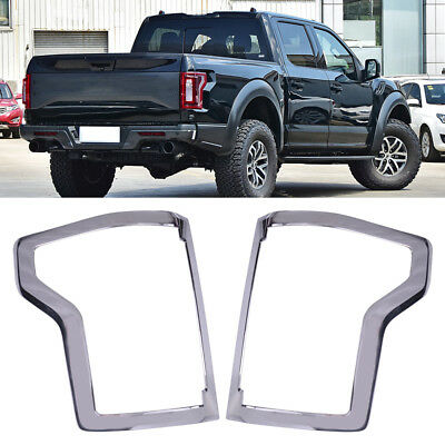 15-16 Ford F150 Truck Chrome Taillight Tail Light Trim Bezel Cover 2015-2016