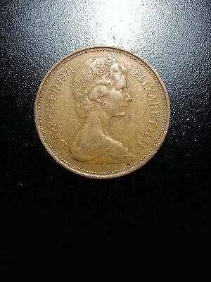 1971 Elizabeth II (New Pence 2) Extra Fine Condition,VERY RARE, COLLECTIBLE UK