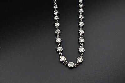 58c3a767b Authentic Tiffany & Co Elsa Peretti Diamonds By The Yard Necklace 6.25ct