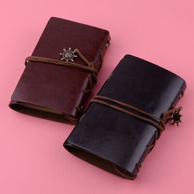 Retro Vintage Style Leather Cover Notebook Travel Journal Portable Pocket Diary