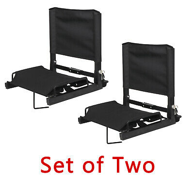 2 Pack Football Bleacher Seat Portable Stadium Seat w/ Stable Fixed Hook