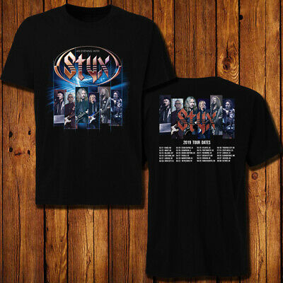 Styx 2019 Concert Tour Dates T Shirt Tee 2 Side All Size 21 99