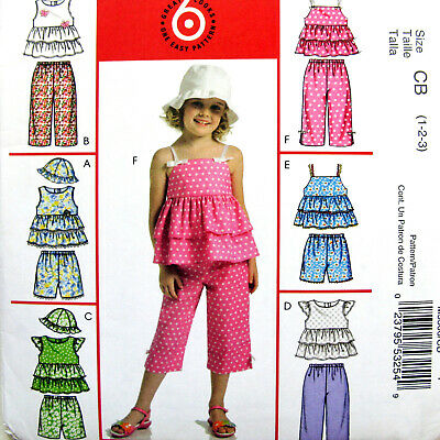 MCCALL/'S PATTERN TOP DRESS PANTS TODDLERS/' SIZE 1-2-3 GIRLS/' SIZE 4-5-6 # M7178