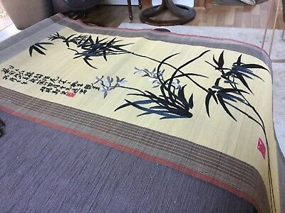 154 x 45 cm Embroidered Oriental Scroll Near new Surplus to need