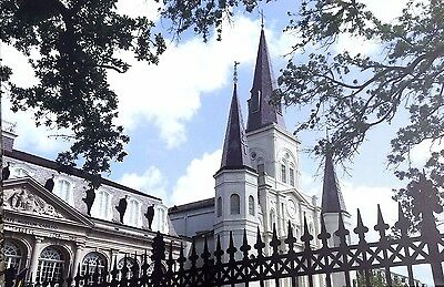 St.Louis Cathedral & Cabildo New Orleans by Britt Johnson Signed/Numbered Canvas