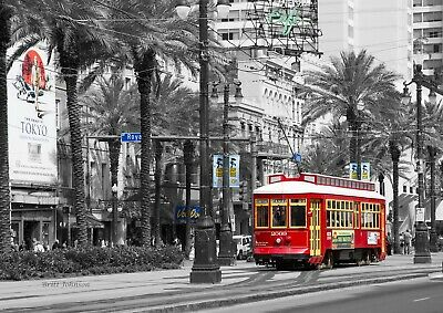 Royal Street, Streetcar by Britt Johnson Signed and Numbered size11 3/4 x 16 1/2