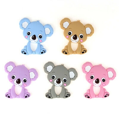 Koala Kids Baby Teether Chewable Silicone Pendant for Pacifier Chain Necklace