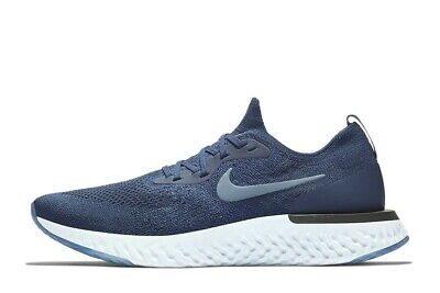 43b26a0f30dc1 Nike Epic React Flyknit 1 Blue Void Men Running Shoes Sneakers AQ0067-402