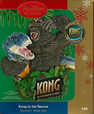 King Kong Sound Ornament Kong To The Rescue Carlton Card Heirloom Collection