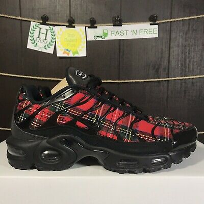 a4be2ea7a9 Nike Air Max Plus TN SE Tartan 1 Plaid Black Red Yellow AV9955 001 Size 7.5