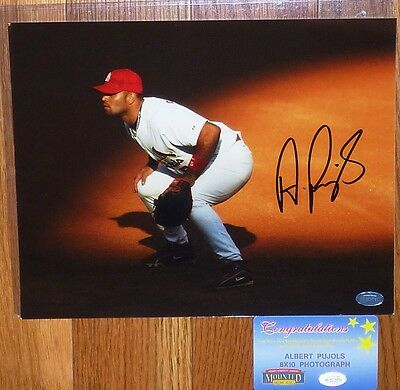ST LOUIS CARDINALS ALBERT PUJOLS AUTOGRAPHED SIGNED 8x10 PHOTO MOUNTED MEMORIES