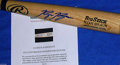 Milwaukee Brewers Ryan Braun Autographed Auto RB PRO Model Baseball Bat Holo COA