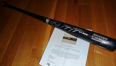 Milwaukee Brewers Ryan Braun Autographed '07 NL ROY SIGNED Baseball Bat COA HOLO