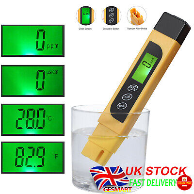 Digital LCD Water Quality Testing Pen Purity Filter TDS Meter Tester Portable