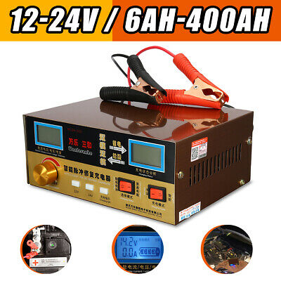 12V 24V 400AH Car Battery Charger Automatic Intelligent Pulse lead acid battery
