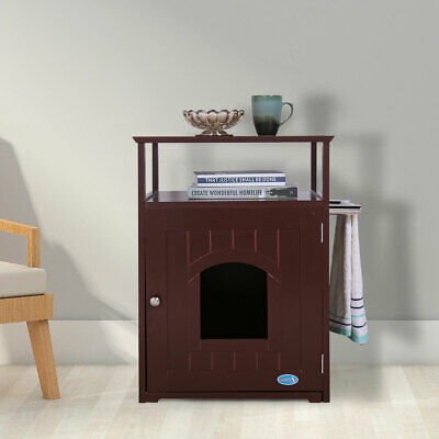 Dog Kennel Wood Bed Small Litter Box Pet Cage Wooden