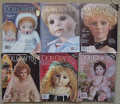 DOLL CRAFTER Magazines BULK COLLECTION (6) Porcelain Dolls & Clothes NO PATTERNS
