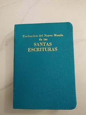 SPANISH NEW WORLD TRANSLATION BIBLE COVER, TURQUOISE, Jehovah's Witness