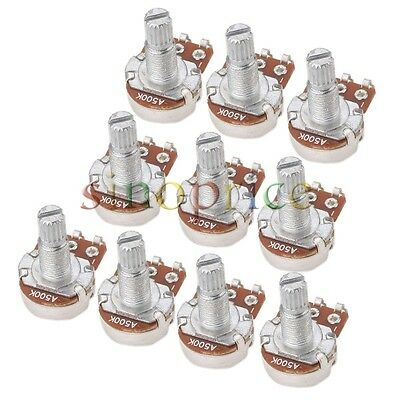 10pcs A500K OHM Audio Mini POTS Guitar Potentiometer Replace for Electric Guitar