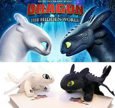 How To Train Your Dragon 3 Soft Toys Light Fury Toothless Stuffed Plush Doll