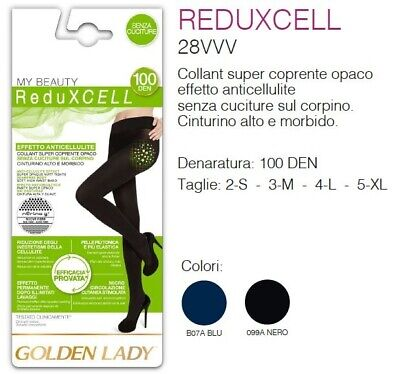 Golden Lady - My Beauty Reduxcell 100 Collant Donna Super Coprente Anticellulite
