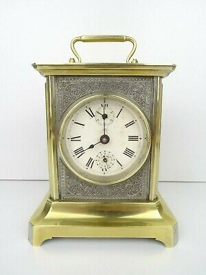 JUNGHANS Antique Carriage German Mantel Shelf Alarm Clock