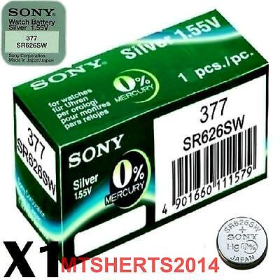 2 x SONY 377 SR626SW 1.55V Watch Battery Batteries Button Coin Cell OX17