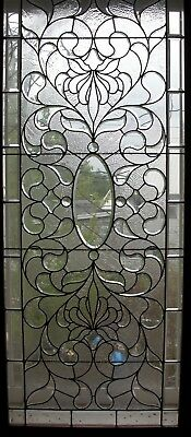 1890's Huge 78 x 32 Beveled Combination Glass Window Late Victorian Era