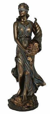 Tyche Statue Goddess of Luck and Fortune Veronese Cold Cast Bronze